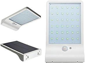 Love usexy Solar Gutter Lights Wall Lámparas de pared con montaje pole exterior Detector de movimiento luz iluminación de seguridad para Granero Veranda Garage White