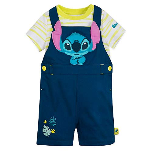 Disney Stitch Dungaree Set for Baby, Size 0-3 Months
