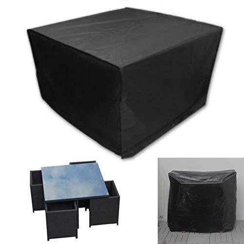 Bidema 4 plazas de Trabajo Pesado Resistente al Aire Libre Patio al Aire Libre Muebles de jardín Cubiertas de Nieve de Nieve Cubierta de Silla para sofá Silla de Mesa Cubierta a Prueba de Polvo