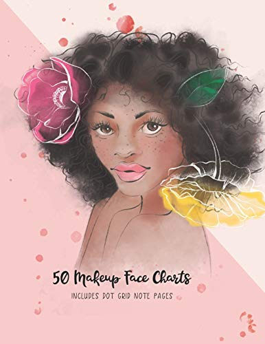 50 Makeup Face Charts: Includes Dot Grid Notes Pages