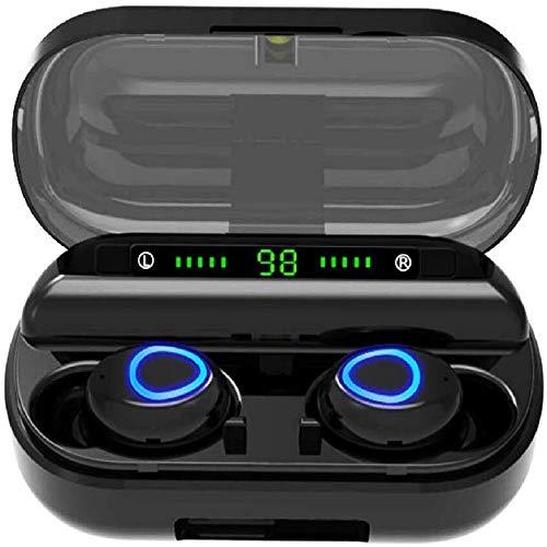 Auriculares Bluetooth, Auriculares Bluetooth Inalámbricos Mini Twins Estéreo In-Ear Bluetooth 5.0 con Caja de Carga Portátil Y Micrófono Integrado para iPhone y Android