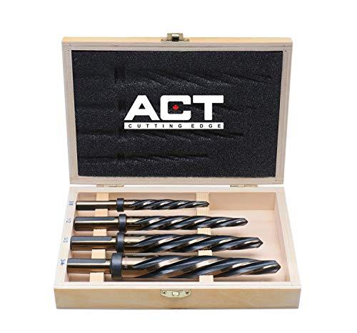 Accusize Industrial Tools 4 Pc H.S.S. Standard Spiral Flute Super Premium Car Reamer Set, 3/8