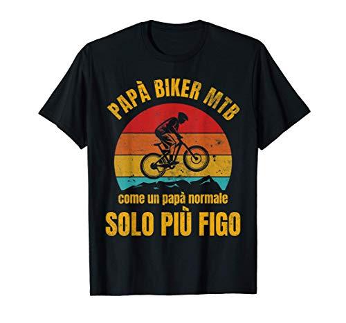 Mountain Bike Papà MTB Ciclista Ciclismo Divertente Maglietta