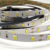 ROLLO de 5 metros de Tira de led 18w/metro a 24v. IP20. Color Blanco Frio (6500K). 4800 lumenes. Cinta strip profesional 60 led/m.
