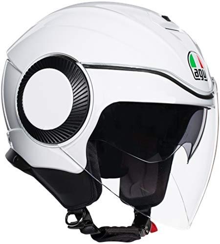 AGV Orbyt Agv E2205 Solid Casco Moto, Unisex - Adulto,  Bianco Perla, S