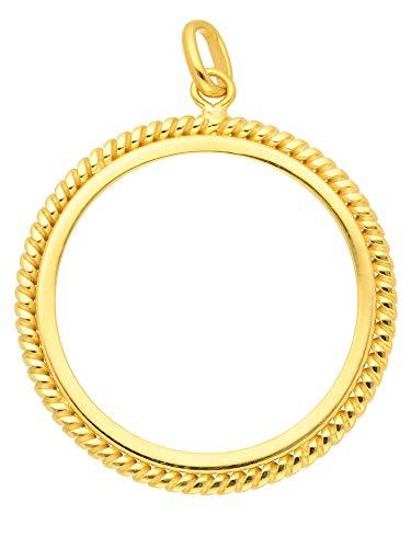 Gold Münzfassung 14 k 585 Gelbgold 22 Ø mm