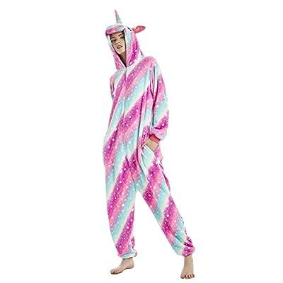 KiKa Monkey Flanela Unicornio Cartoon Animal Novedad Navidad Pijama Cosplay (XL, púrpura)