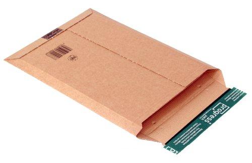 progressPACK - Busta per spedizioni postali Premium PP W01.04, in cartone ondulato, formato DIN A4+, 235 x 337 max. 35 mm, confezione da 25, colore: Marrone