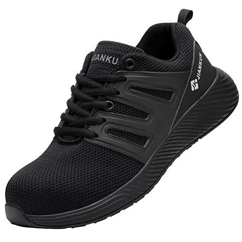 Zapatos de Seguridad Hombre Mujer Punta de Acero Protección Calzado de Trabajo...