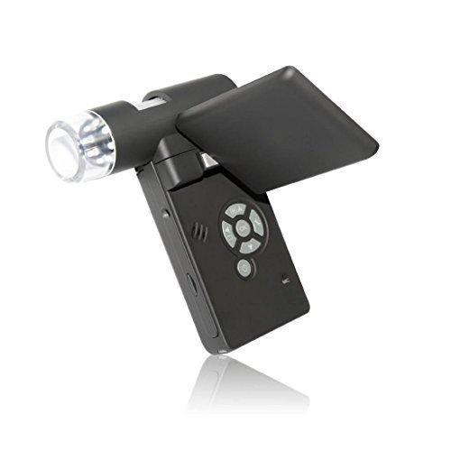 Home Care Wholesale® Portátil Digital Microscopio Cámara con 3.0 Pulgadas Giratoria Pantalla y 500 Ampliación