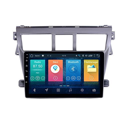 """DMMASH 9\"""" Autoradio GPS Autoradio Navigation unterstützt Bluetooth Bildschirm Spiegelung Lenkradsteuerung HD für Toyota Vios Yaris 2008-2013,8 cores 4g+WiFi:4+64g"""