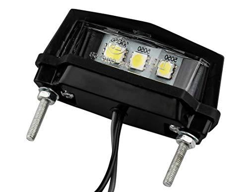 AUTOLIGHT 24 LED Kennzeichenleuchte Nummernschildleuchte Motorrad Quad ATV Hell ABS mit Zulassung 3 SMD L 58,5mm x H 19mm x T 30mm