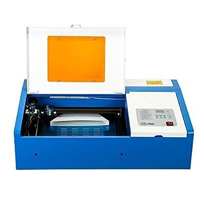 "Orion Motor Tech 40W Co2 Laser Engraving Cutting Machine, Digital Control 12"" x 8"" K40 Desktop DIY Wood Laser Engraver Cutter"