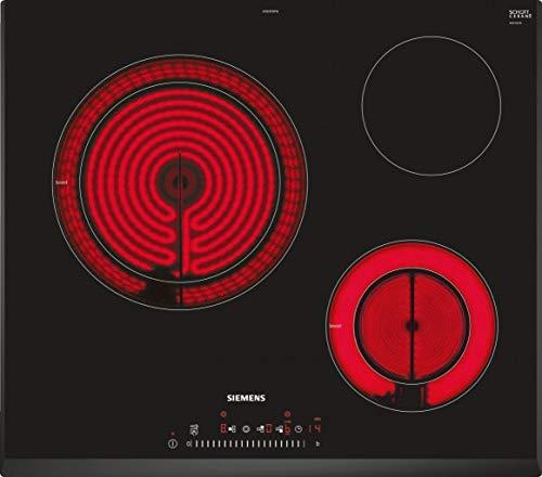 Siemens ET651FKP2E hobs Negro Integrado Cerámico - Placa (Negro, Integrado, Cerámico, Vidrio y cerámica, 1200 W, Alrededor)
