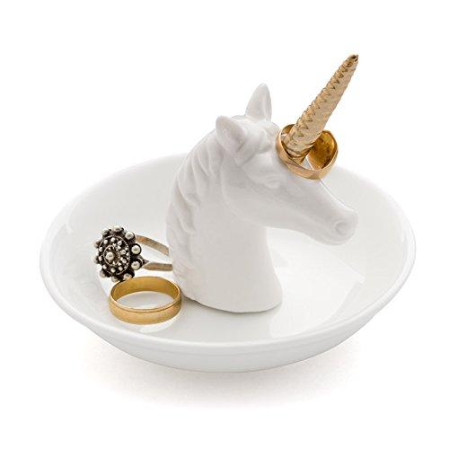 Balvi - Unicorn Porta Anillos de cerámica. Bandeja