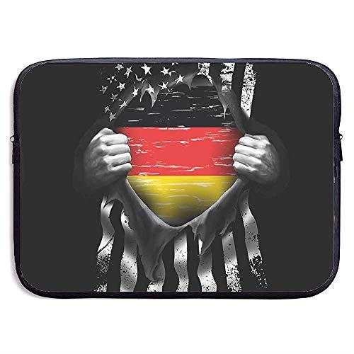 Waterdichte Computer Tas, Laptop Sleeve Hoes, Zakelijke Aktetas Mes, Vlag Van Duitsland Pull Apart Tablet Case Hoes, Laptop Sleeve Tas, Compatibele Notebook Bag Case