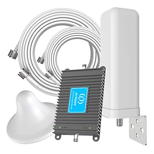Cell Phone Signal Booster Dual Band 700MHz Band 13/12/17 FDD Mobile Signal Repeater Amplifier Omni-Directional Antenna Kits Improve 4G LTE Data Rates, Support Volte for Home and Office
