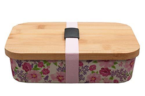 neuetischkultur Brotdose NTK Lunchbox Bambus Brotbox Vesperdose Brotzeitdose Bambusfaser Sandwichbox für Erwachsene und Kinder Lila, Natur
