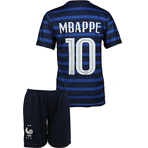 StoneMale 2021 Frankreich Heim Kylian Mbappé #10 Kinder Trikot Europäische Nationalmannschaften (104, 2-3 Jahre)