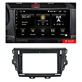 zhuzhu 9 pulgadas 2 DIN CAR FASCIA DVD Juego de cuadros Panel Dash Mount Installation Dashboard Fit para GRAN MURALLA C30 2014-2019 (Color Name : Black)