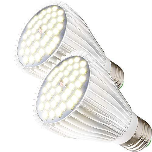MILYN 2 Pack LED Pflanzenlampe E27 30W Tageslichtweiß Vollspektrum Led Grow Lampe 150 LEDs Pflanzenlicht für Zimmerpflanzen, Hydroponische, Gewächshäusern, Innengärten, Pflanzen Wachsen