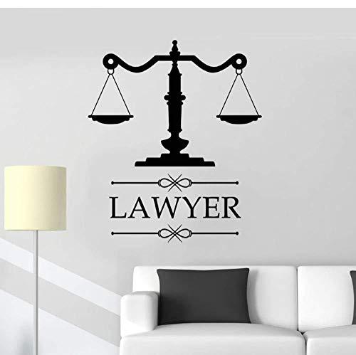 WandtattoosVinyl Aufkleber Anwaltskanzlei Logo Anwaltskanzlei Personalisierte Aufkleber tick Firmenname Fenster Gerechtigkeit Dekoration Kunst 42x48cm