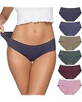 Wealurre Cotton Women's Breathable Panties Seamless Comfort Underwear(3128XL,Line Purple)