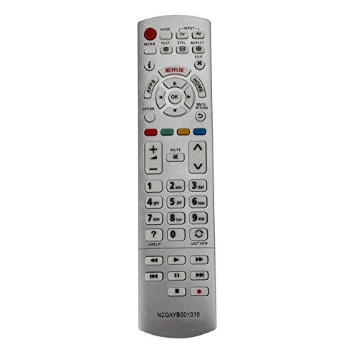 VINABTY N2QAYB001010 Sub N2QAYB00101 Fernbedienung Ersetzen für Panasonic LCD Fernseher TX-58DX700E TX-58DX730E TX-58DX750E TX-58DX780E TX-58DXM710 TX-58DXW704 TX-58DXW784 TX-58DXW704 TX-58DXW7