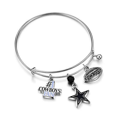 NFL Dallas Cowboys Three Charm Logo Bracelet