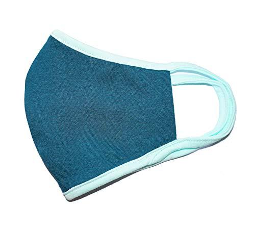 Weri Speciaal gezichtsmasker mondmasker, bandana, multifunctionele doek, stofmasker – mond, adem, stof, lucht, gezichtsdoek, mond- en neusmasker Voor wandelen, sport en vrije tijd. Medium Petrol + turquoise
