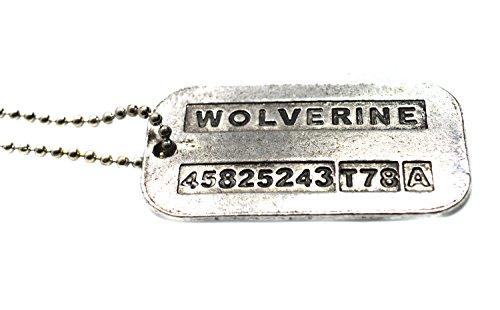 Placas de identificación de acero, con diseño de Lobezno y James Logan...