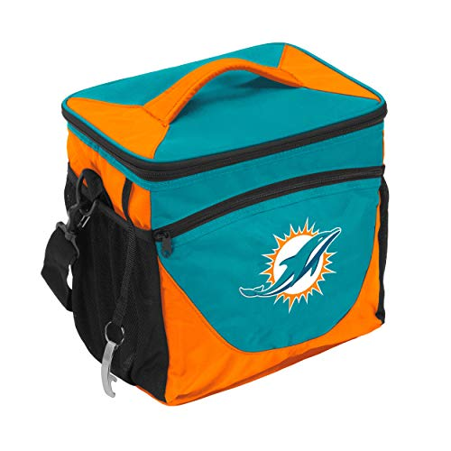 Logo Brands NFL Miami Dolphins 24 Can Cooler, One Size, Black