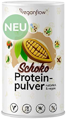 veganflow® vegan Protein, pflanzliches Eiweißpulver, ohne Soja, glutenfrei und laktosefrei, veganes Proteinpulver (Schokolade)