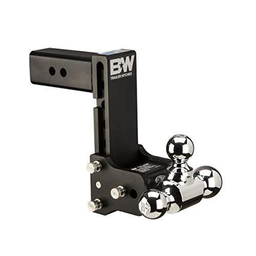 "B&W Trailer Hitches Tow & Stow Receiver 1 7/8"" x 2"" x 2 5/16"" with 2.5"" Receiver - 7"" Drop / 7.5"" Rise Tri-Ball Hitch"