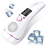 Ice Hair Removal at-Home for Women Permanent IPL Hair Removal Upgrade to 999,999 Flashes Professional Hair Remover Device Care with Icing Sense Painless Treatment Facial Body and Whole Body (White)