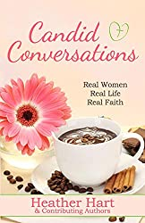 pink daisy and background, coffee cup, candid conversations book cover
