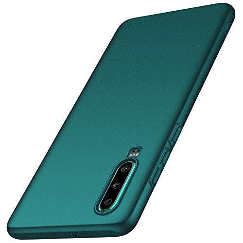 Huawei P30 Hülle, Anccer [Serie Matte] Elastische Schockabsorption und Ultra Thin Design für Huawei P30 (Kies Grün)