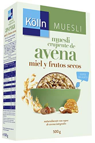 Kölln - Mueslis de avena con miel y frutos secos, 500 gramos [Pack de 3]