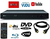 LG BPM25 Blu-ray Disc Player with Wired Streaming Services, 6FT HDMI Cable Included (Renewed)
