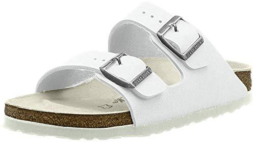 Birkenstock Classic Arizona Birko-Flor Unisex-Erwachsene Pantoletten, Weiß, 39 EU