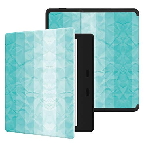 "Ayotu Colorful Case for All-New Kindle Oasis (10th Gen, 2019 Release & 9th Gen, 2017 Release) PU Leather Smart Waterproof Cover,Auto Wake/Sleep,ONLY Fits All-New 7"" Kindle Oasis,KO The Mint Green"