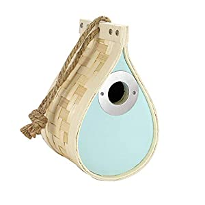 Dewdrop Bird Nest Box | Nesting House | Bird House | Bird Box | Wildlife Hotel & Feeder | Birds, Bugs & Bee Box for Gardens | M&W