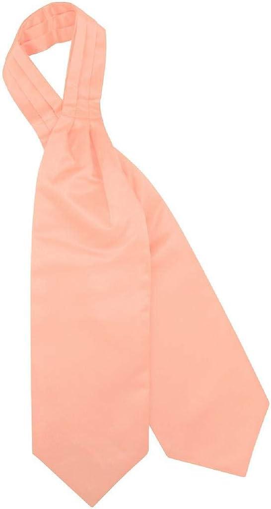 Vesuvio Napoli ASCOT Solid PEACH Color Cravat Men's Neck Tie