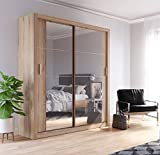 Brand New Modern Bedroom Mirror <span class='highlight'>Sliding</span> <span class='highlight'>Door</span> <span class='highlight'>Wardrobe</span> ARTI 3 in Oak Shetland 180cm without LED sold by Arthauss