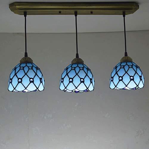 LIUCHUNYANSH Lámpara Colgante Lluminación Colgantes Tiffany Chandelier Bohemian Beads Mediterráneo Iluminación Sala de Estar Dormitorio Lobby Villa Faros