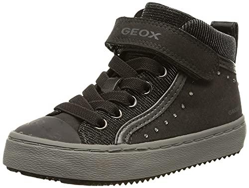 Geox J Kalispera Girl I, Scarpe da Ginnastica a Collo Alto Bambina, Grigio (Dk Grey C9002), 34 EU
