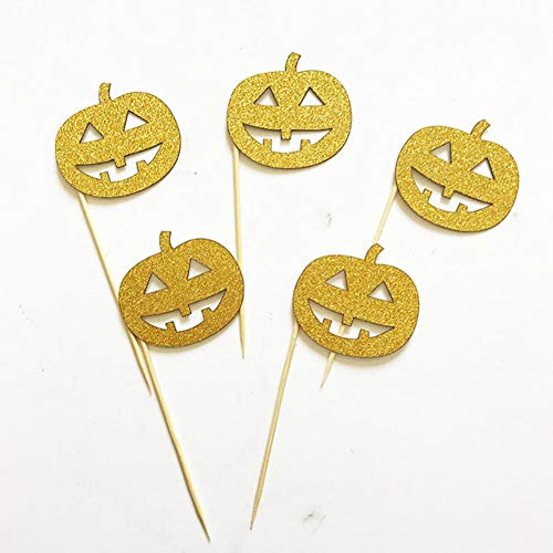 ZHQIC Party Cake Decoration Cake Topper Pumpkin Spider Insert Party Supplies Cupcake DIY Decorations