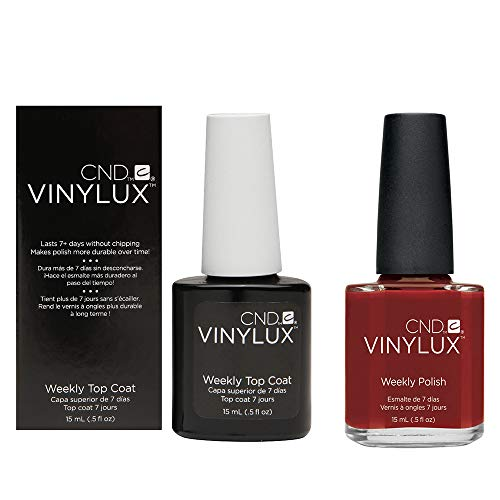 CND Vinylux Duo Top Coat Plus Smalto per Unghie, Burnt Romance - Confezione da 2 x 15 ml