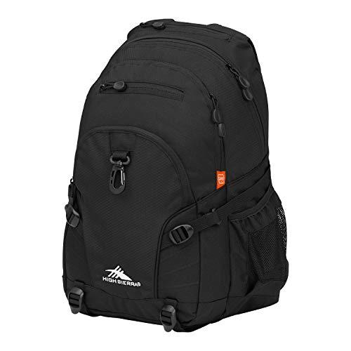 High Sierra Loop Backpack, Black, 19 x 13.5 x 8.5-Inch