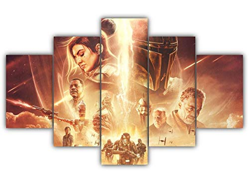 GSDFSD Bedroom Wall Art Star Wars Guardian Non-Woven Canvas Picture Prints Image Framed Artwork 100x55cm Living Room Bedroom Home Decor 5 sets